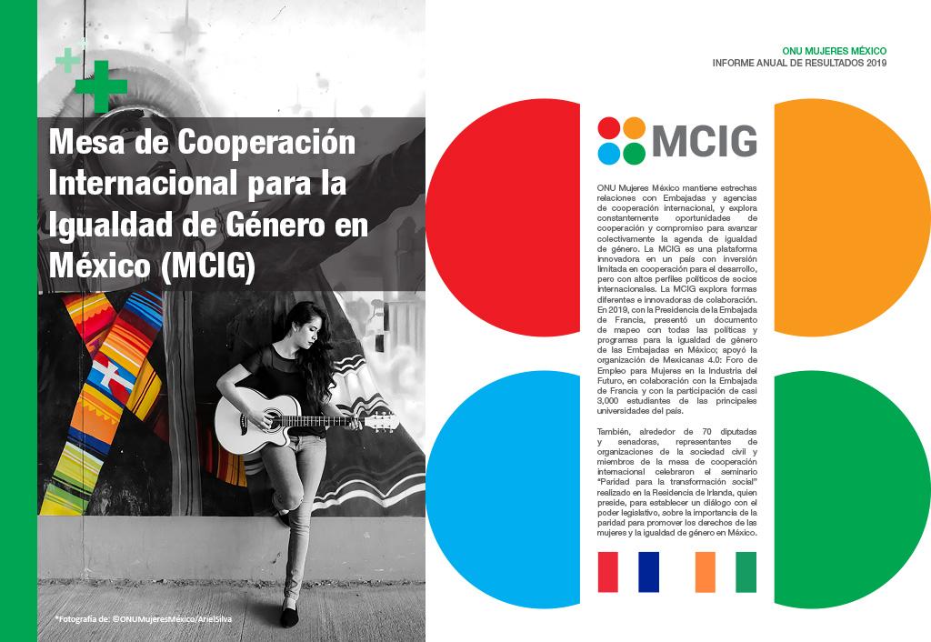 Mesa de Cooperación Internacional para la Igualdad de Género en México (MCIG)