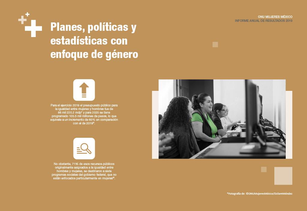 Planes, políticas y estadísticas con enfoque de género