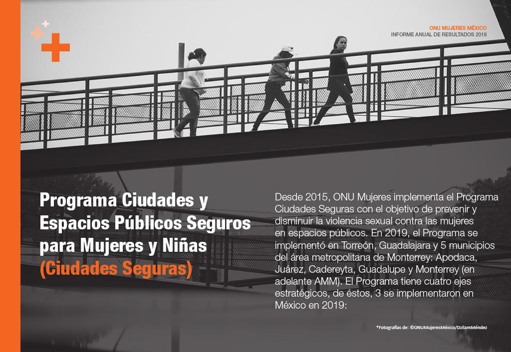 Programa Ciudades y Espacios Públicos Seguros para Mujeres y Niñas (Ciudades Seguras)