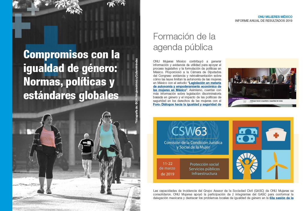 Compromisos con la igualdad de género: Normas, políticas y estándares globales